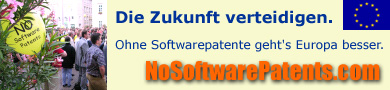 (Keine Softwarepatente)